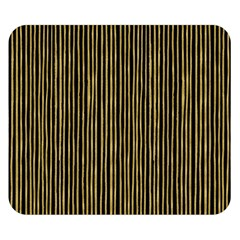 Stylish Golden Strips Double Sided Flano Blanket (small)  by gatterwe