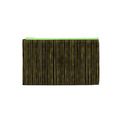 Stylish Golden Strips Cosmetic Bag (xs) by gatterwe