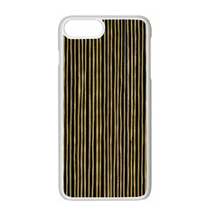 Stylish Golden Strips Apple Iphone 7 Plus White Seamless Case by gatterwe