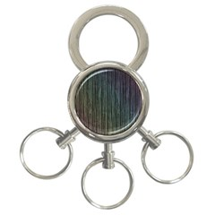 Stylish Rainbow Strips 3 Ring Key Chains by gatterwe