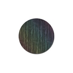 Stylish Rainbow Strips Golf Ball Marker by gatterwe