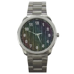Stylish Rainbow Strips Sport Metal Watch by gatterwe