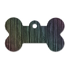 Stylish Rainbow Strips Dog Tag Bone (one Side) by gatterwe