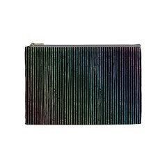 Stylish Rainbow Strips Cosmetic Bag (medium)  by gatterwe