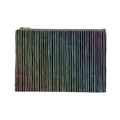 Stylish Rainbow Strips Cosmetic Bag (large)  by gatterwe