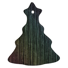 Stylish Rainbow Strips Christmas Tree Ornament (two Sides) by gatterwe