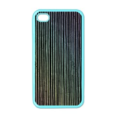 Stylish Rainbow Strips Apple Iphone 4 Case (color) by gatterwe