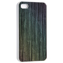 Stylish Rainbow Strips Apple Iphone 4/4s Seamless Case (white) by gatterwe