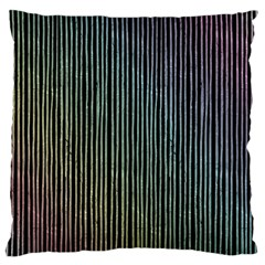 Stylish Rainbow Strips Large Cushion Case (two Sides) by gatterwe