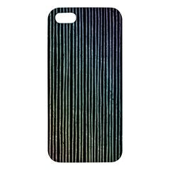 Stylish Rainbow Strips Apple Iphone 5 Premium Hardshell Case by gatterwe