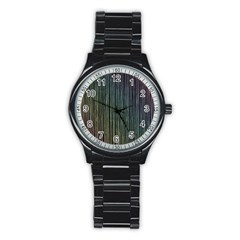 Stylish Rainbow Strips Stainless Steel Round Watch by gatterwe
