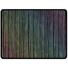 Stylish Rainbow Strips Double Sided Fleece Blanket (large)  by gatterwe