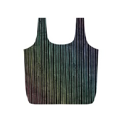 Stylish Rainbow Strips Full Print Recycle Bags (s)  by gatterwe