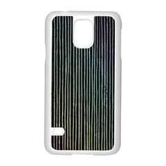 Stylish Rainbow Strips Samsung Galaxy S5 Case (white) by gatterwe