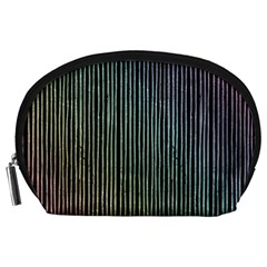 Stylish Rainbow Strips Accessory Pouches (large)  by gatterwe