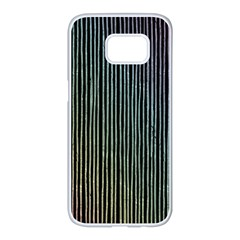 Stylish Rainbow Strips Samsung Galaxy S7 Edge White Seamless Case by gatterwe