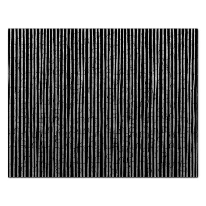 Stylish Silver Strips Rectangular Jigsaw Puzzl