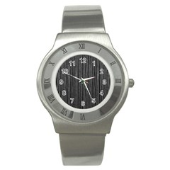 Stylish Silver Strips Stainless Steel Watch by gatterwe