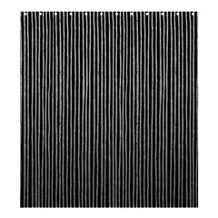 Stylish Silver Strips Shower Curtain 66  X 72  (large)  by gatterwe