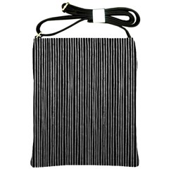 Stylish Silver Strips Shoulder Sling Bags by gatterwe