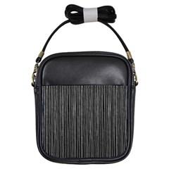 Stylish Silver Strips Girls Sling Bags by gatterwe