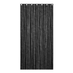 Stylish Silver Strips Shower Curtain 36  X 72  (stall)  by gatterwe