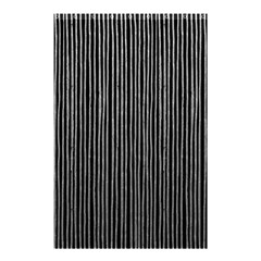 Stylish Silver Strips Shower Curtain 48  X 72  (small)  by gatterwe