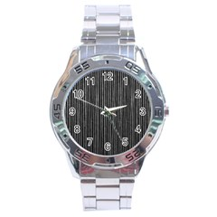 Stylish Silver Strips Stainless Steel Analogue Watch by gatterwe