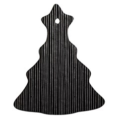 Stylish Silver Strips Christmas Tree Ornament (two Sides) by gatterwe