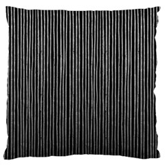 Stylish Silver Strips Large Cushion Case (two Sides) by gatterwe