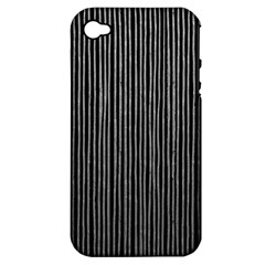 Stylish Silver Strips Apple Iphone 4/4s Hardshell Case (pc+silicone) by gatterwe