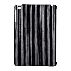 Stylish Silver Strips Apple Ipad Mini Hardshell Case (compatible With Smart Cover) by gatterwe