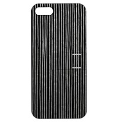 Stylish Silver Strips Apple Iphone 5 Hardshell Case With Stand by gatterwe