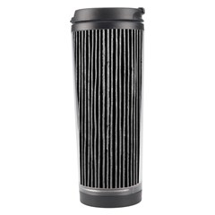 Stylish Silver Strips Travel Tumbler by gatterwe