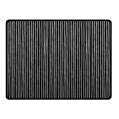 Stylish Silver Strips Double Sided Fleece Blanket (small)  by gatterwe