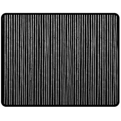 Stylish Silver Strips Double Sided Fleece Blanket (medium)  by gatterwe
