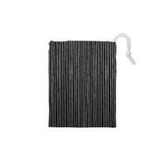 Stylish Silver Strips Drawstring Pouches (xs)  by gatterwe