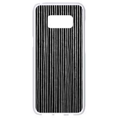 Stylish Silver Strips Samsung Galaxy S8 White Seamless Case by gatterwe