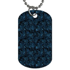 Blue Flower Glitter Look Dog Tag (one Side) by gatterwe