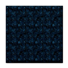 Blue Flower Glitter Look Face Towel by gatterwe