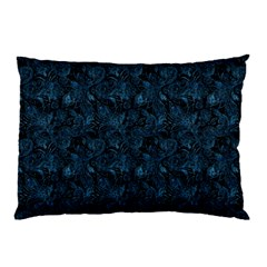 Blue Flower Glitter Look Pillow Case by gatterwe