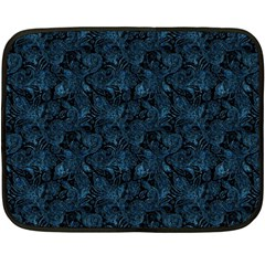 Blue Flower Glitter Look Fleece Blanket (mini) by gatterwe