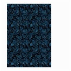 Blue Flower Glitter Look Small Garden Flag (two Sides) by gatterwe