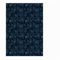 Blue Flower Glitter Look Large Garden Flag (two Sides) by gatterwe