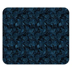 Blue Flower Glitter Look Double Sided Flano Blanket (small)  by gatterwe