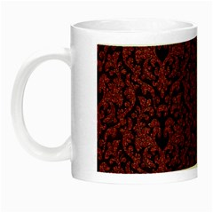 Red Glitter Look Floral Night Luminous Mugs by gatterwe