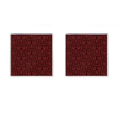 Red Glitter Look Floral Cufflinks (square) by gatterwe