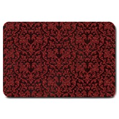 Red Glitter Look Floral Large Doormat  by gatterwe