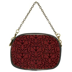 Red Glitter Look Floral Chain Purses (two Sides)  by gatterwe