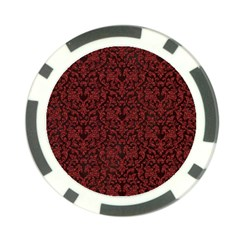 Red Glitter Look Floral Poker Chip Card Guard (10 Pack) by gatterwe